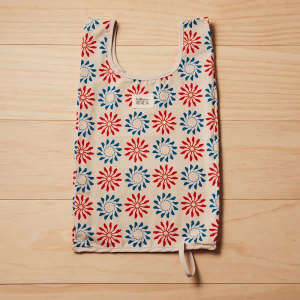 可收捲小背心袋/烏秋圈圈/陶罐紅藍 手提袋, 背心袋, 購物袋