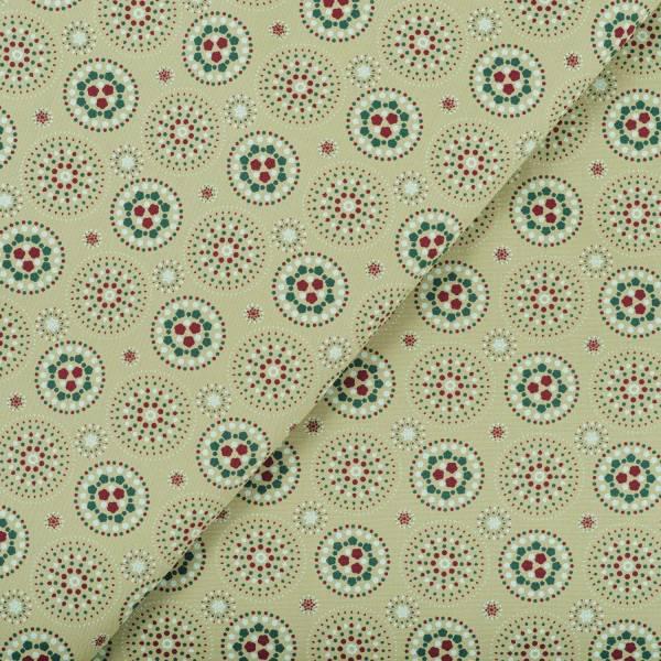 寬幅印花布8N/煙火/橄欖灰綠 布料, 棉帆布, 手作材料