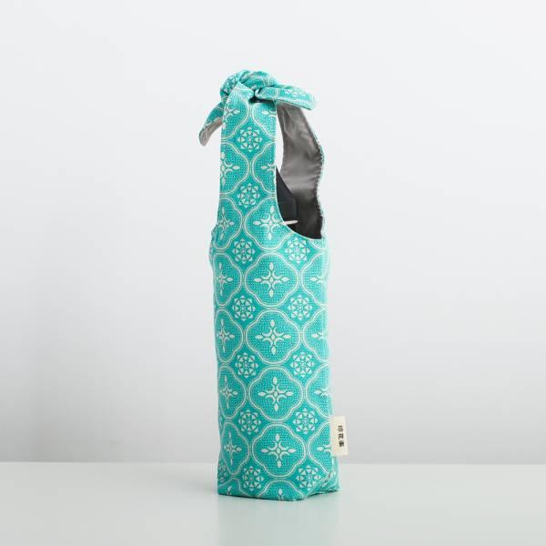 兔耳水壺袋/玻璃海棠/冰晶藍綠 飲料提袋,環保飲料提袋, 隨行杯提袋, 兔耳袋