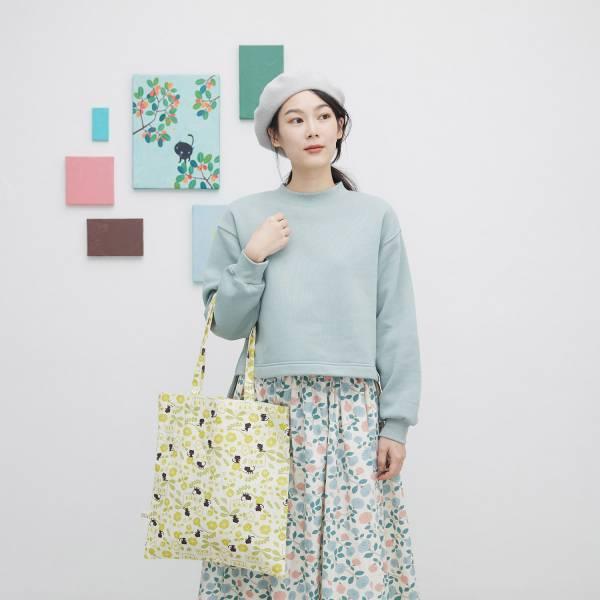日常購物袋/藝術家聯名/印花樂 x 米力/黃花與無辜貓 肩背包,購物袋,環保袋,提袋