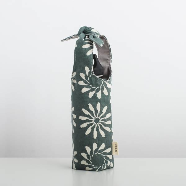 兔耳水壺袋/烏秋圈圈/水鴨綠色 飲料提袋, 環保飲料提袋, 隨行杯提袋, 兔耳袋