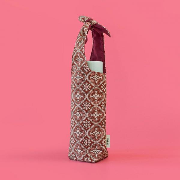 兔耳水壺袋/玻璃海棠/名伶深紅 飲料提袋, 環保飲料提袋, 隨行杯提袋, 兔耳袋