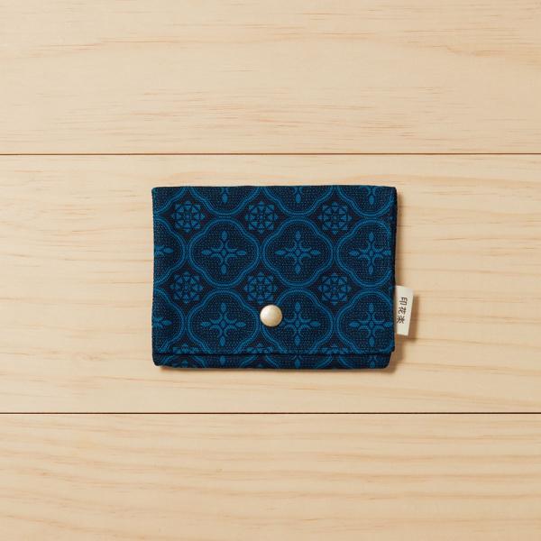 單釦面紙小物袋/玻璃海棠/宅邸深藍 面紙袋, 小物袋