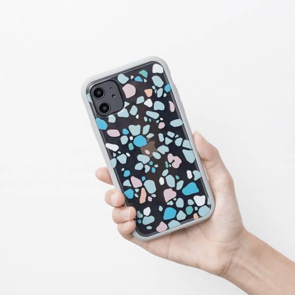【預購/含iPhone12】印花樂X犀牛盾NX背板-iPhone/老磁磚/背蓋磨石子粉藍 手機殼, 手機套, 犀牛盾, iPhone 手機殼, iPhone 12