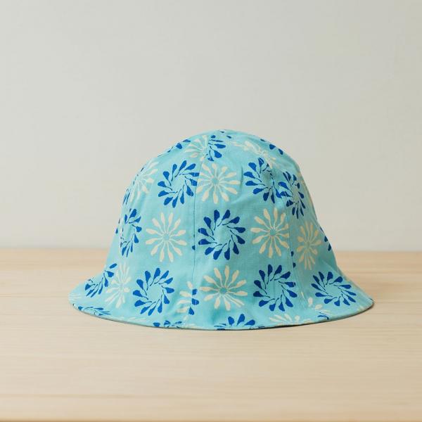 花瓣帽/烏秋圈圈/晴天藍 遮陽帽, 花瓣帽