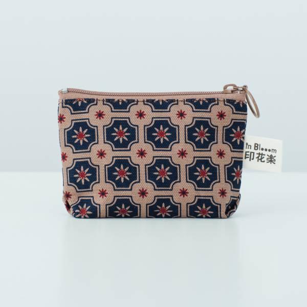 小東西拉鏈包/老磁磚2號/古董藍褐 2019,零錢包,雜物包