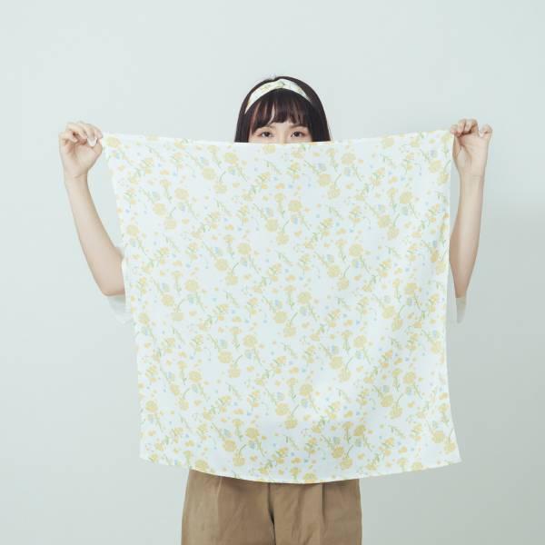 柔棉大方巾/花草台灣味/油菜花黃 布巾, 包巾, 手帕
