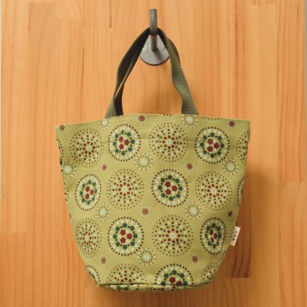 圓底小提袋/煙火/橄欖灰綠 手提袋, 手提包