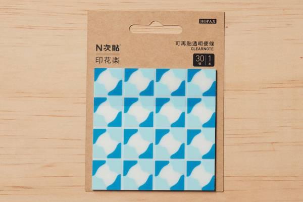 N次貼-透明便條本/老磁磚3號/多色 N次貼, 便條本