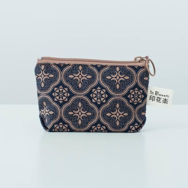 小東西拉鏈包/玻璃海棠/午夜藍褐 2019,零錢包,雜物包
