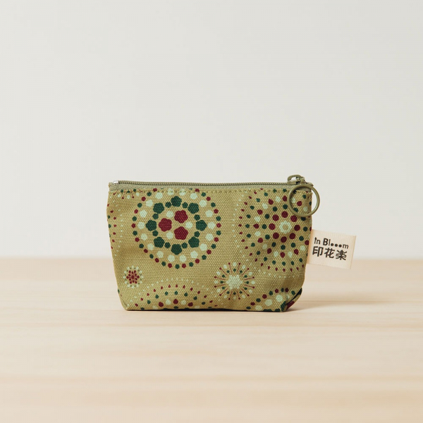 小東西拉鏈包/煙火/橄欖灰綠 拉鏈包, 零錢包, 收納包