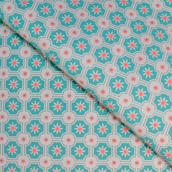 手印棉帆布-400g/y/老磁磚2號/淡灰森林綠 布料, 棉帆布, 手作材料
