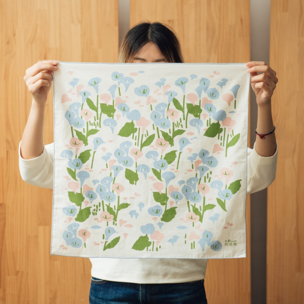 包布巾-50x50/雜花/海芋粉 包布巾, 手帕