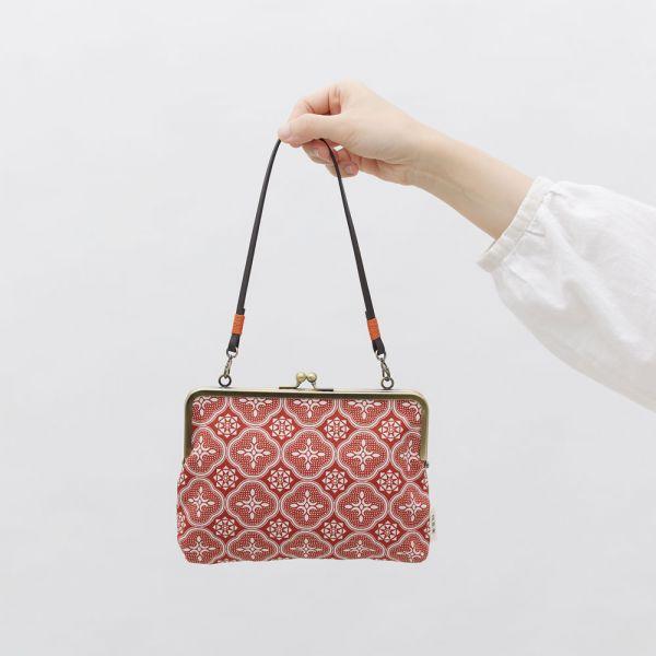 口金手帳包/玻璃海棠/名伶深紅 口金包, 零錢包,手提包