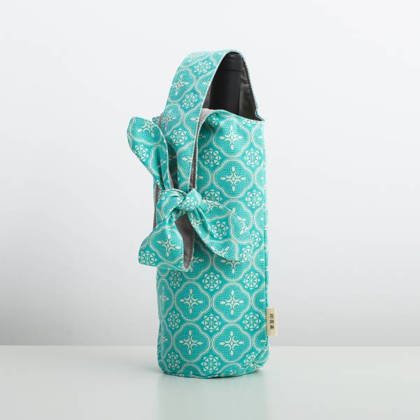 大大兔耳袋/玻璃海棠/冰晶藍綠 飲料提袋, 環保飲料提袋, 隨行杯提袋, 兔耳袋