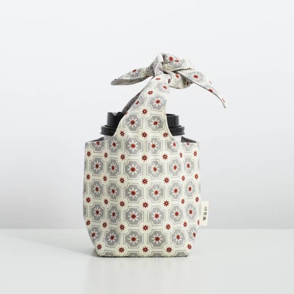 小胖兔耳袋/老磁磚2號/雲塵灰色 飲料提袋, 環保飲料提袋, 隨行杯提袋, 兔耳袋