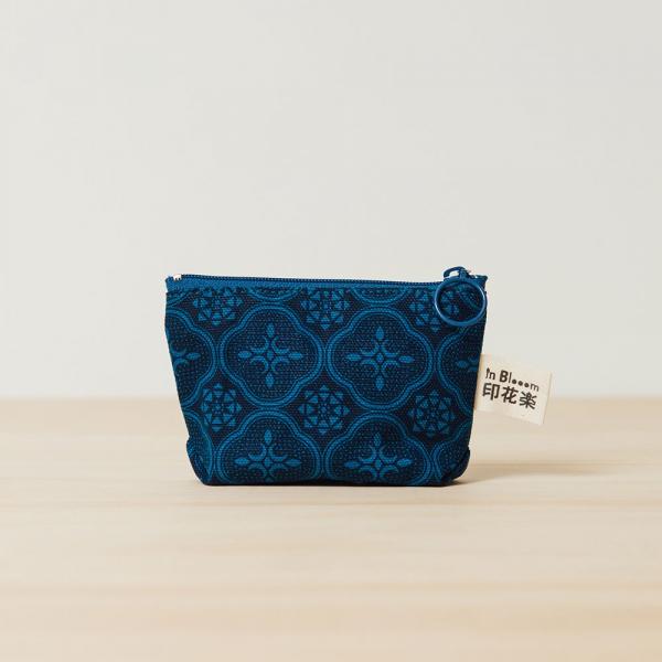 小東西拉鏈包/玻璃海棠/宅邸深藍 拉鏈包, 零錢包, 收納包