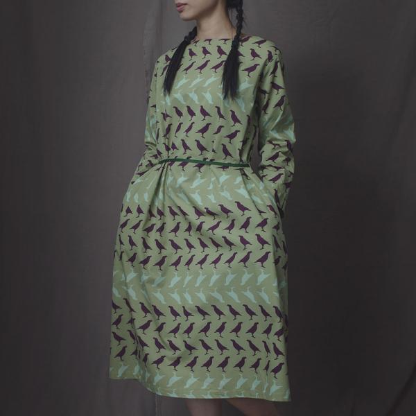 A字寬版罩衫/台灣八哥5號/油畫紫綠 罩衫