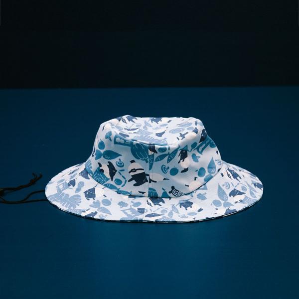 遮陽漁夫帽-可調式/限定花色/印花樂x馬來貘-中性藍 漁夫帽, 遮陽帽