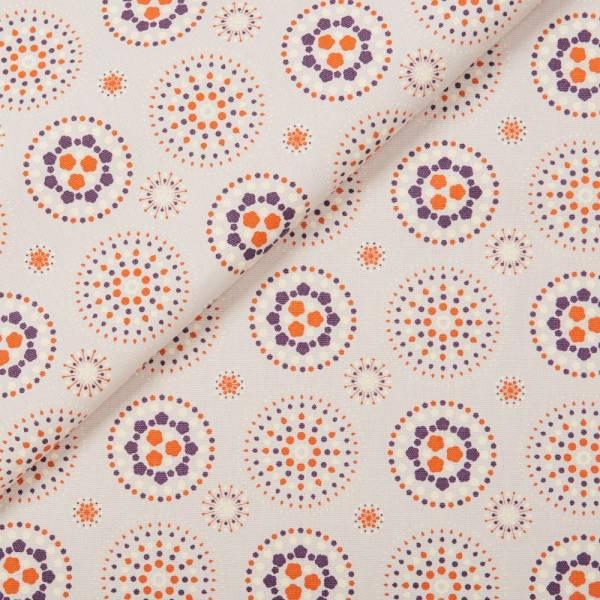 手印棉帆布(滿花)-400g/y/煙火/芋灰紫 手作, 印花布, 布料
