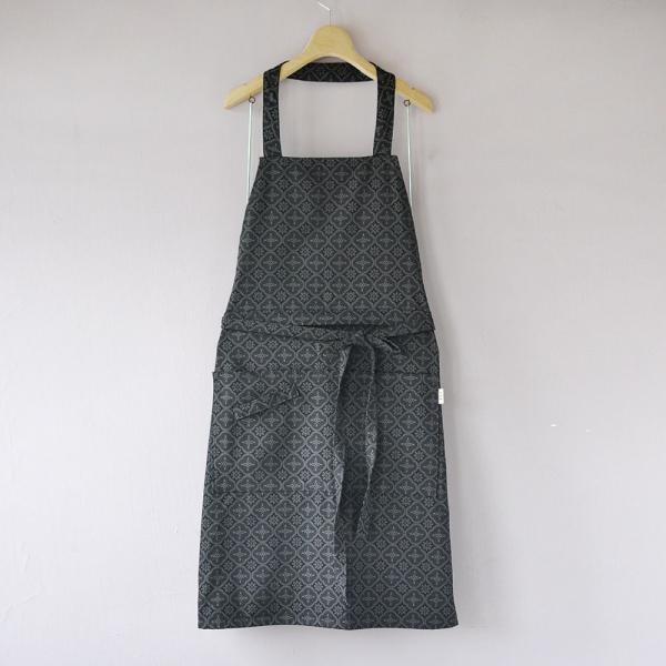 全身/半身兩用圍裙/玻璃海棠/紳士黑色 圍裙