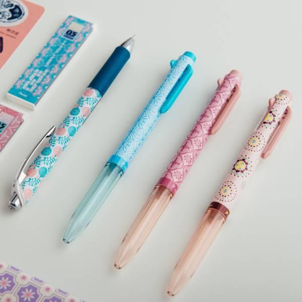 三色筆管組─粉紅與藍(三色筆管x3)