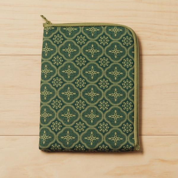 iPad Mini收納包/玻璃海棠/古董草綠 平板保護殼, 平板保護袋, iPad收納袋