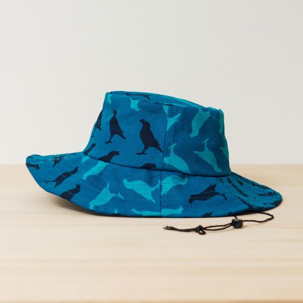 遮陽漁夫帽-可調式/台灣八哥5號/湖心藍色 漁夫帽, 遮陽帽