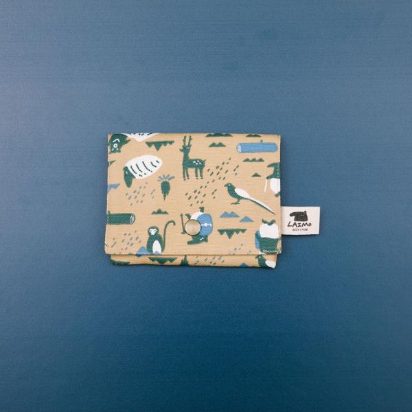 單釦面紙小物袋/限定花色/印花樂x馬來貘-山林泥褐 面紙袋, 小物袋