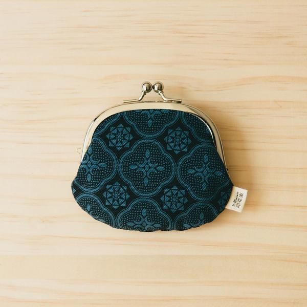 2.6吋口金零錢包/玻璃海棠/島嶼邊際/海軍藍 口金包, 零錢包