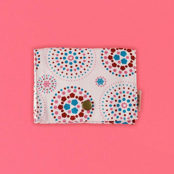 單釦面紙小物袋/煙火/絢爛粉紅 面紙袋, 小物袋