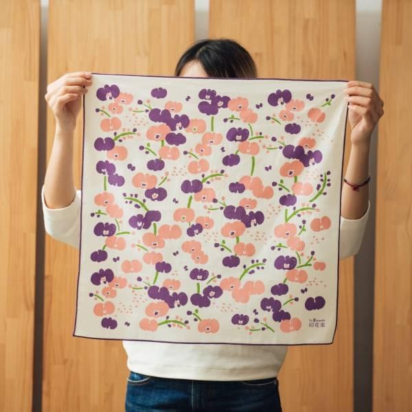 包布巾-50x50/雜花/蘭花紫 包布巾, 手帕
