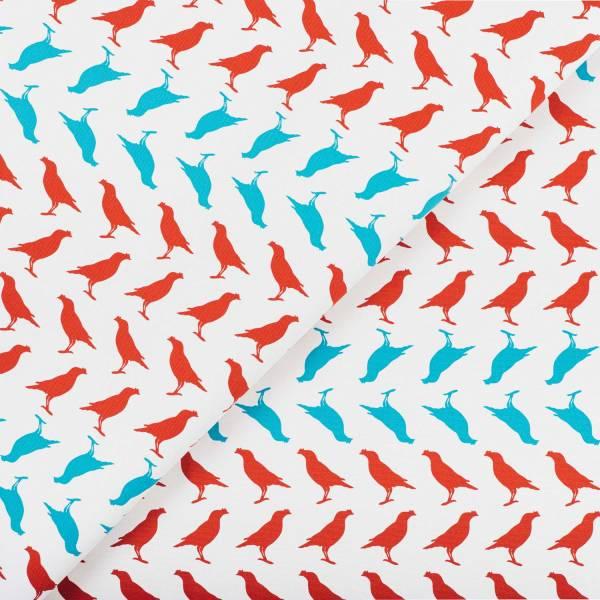 寬幅印花布8N/台灣八哥5號/古宅紅粉 布料, 棉帆布, 手作材料