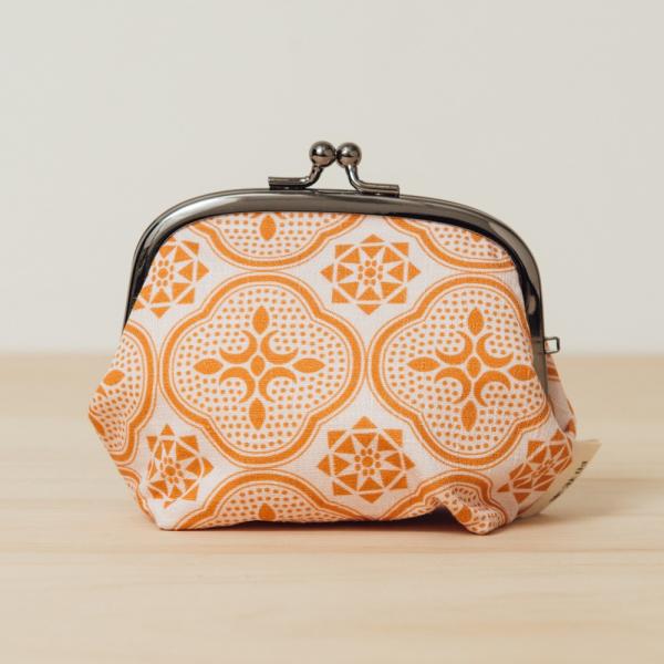 和風3.5吋口金包/玻璃海棠/果實粉紅 口金包, 零錢包, 化妝包