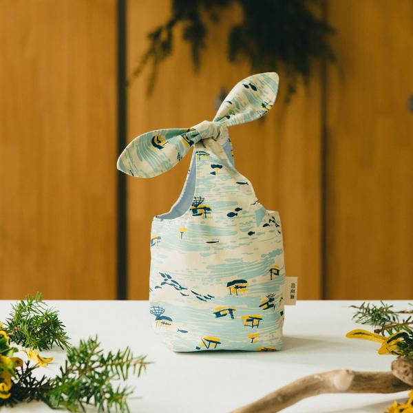 小胖兔耳袋/海的寶物_漁船/淺米黃 環保飲料提袋, 隨行杯提袋, 兔耳袋