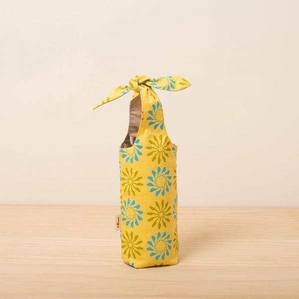 兔耳水壺袋/烏秋圈圈/陽光黃色 環保飲料提袋, 隨行杯提袋, 兔耳袋