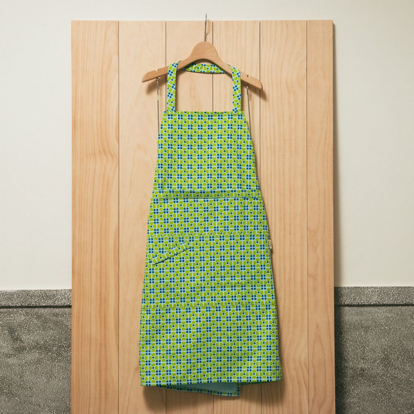 全身/半身兩用圍裙/老磁磚4號/果樹綠色 圍裙