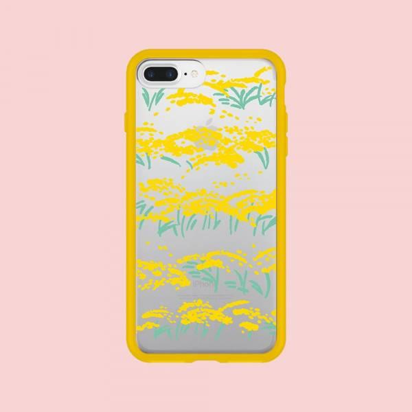 【現貨】印花樂X犀牛盾NX邊框背蓋兩用殼-iPhone XS/雜花/背蓋透明香稻黃 手機殼, 手機套, 犀牛盾, iPhone 手機殼