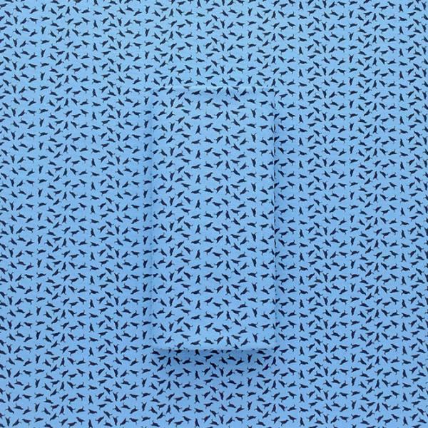 手印棉帆布(滿花)-400g/y/深海探險/台灣八哥4號/灰藍深褐 手作, 印花布, 布料