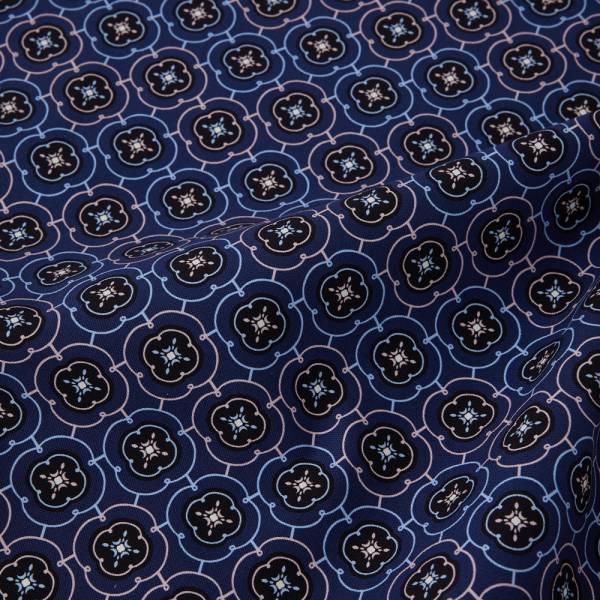 寬幅印花布8N/玻璃海棠3號/典雅藍