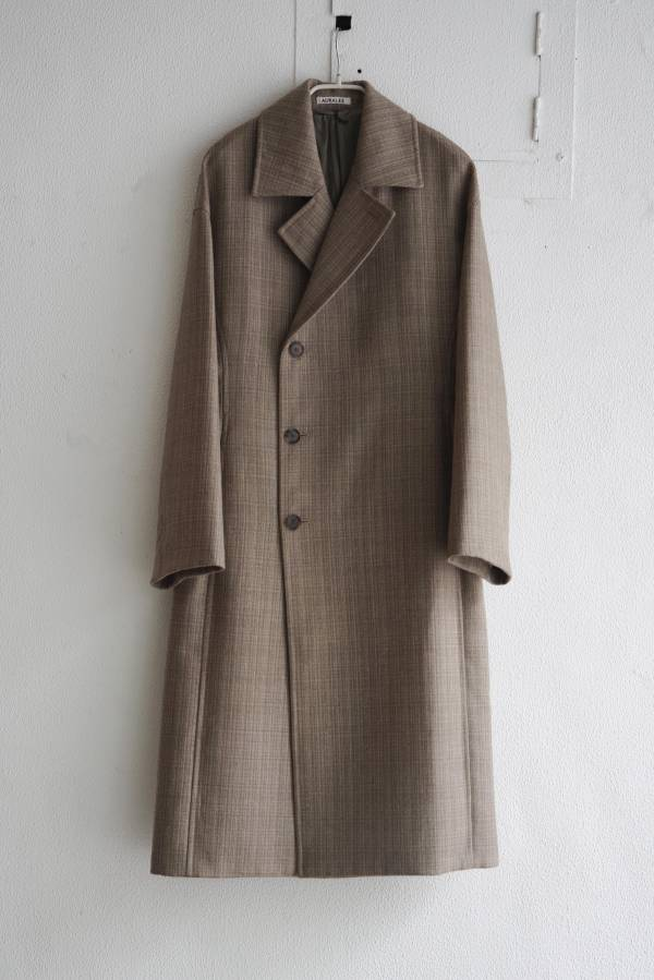 AURALEE - bluefaced double cloth coat
