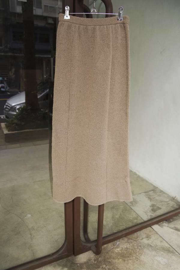 AURALEE - crisp loop yarn knit skirt