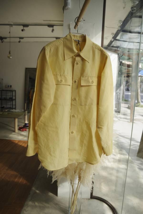 AURALEE - silk cotton cloth big shirts