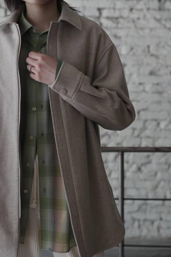 AURALEE - light melton zip shirts