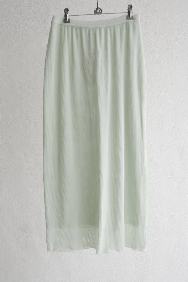 AURALEE - see through ribbed slit double skirt