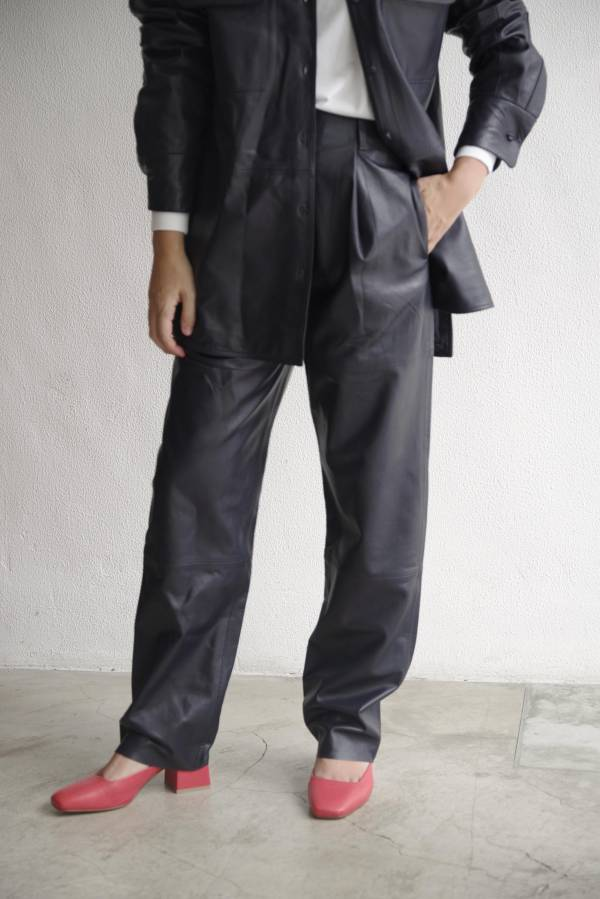 pelleq - lamb leather trousers