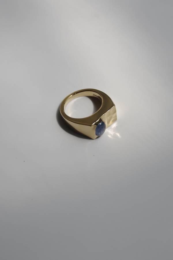 R.ALAGAN - oval stone signet ring