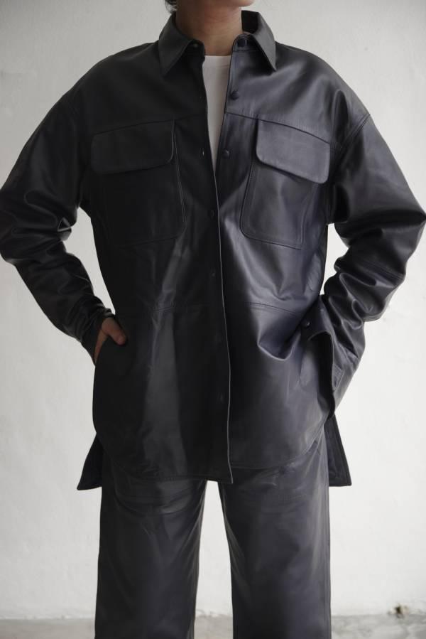 pelleq - lamb leather shirt