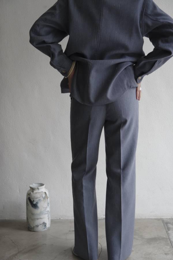 AURALEE - wool linen twill slacks