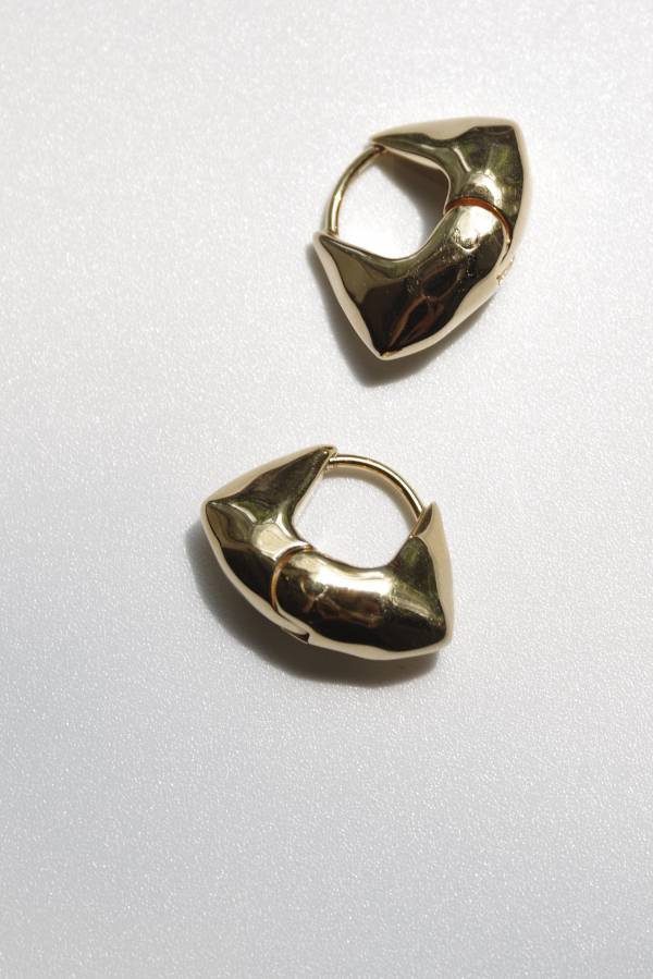 R.ALAGAN - tiny baum hoops in gold